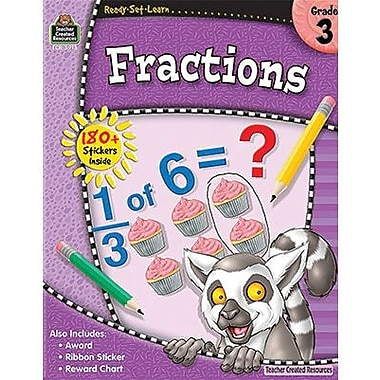 Teacher Created Resources® Ready -Set -Learn, Fractions Book, Grades 3rd