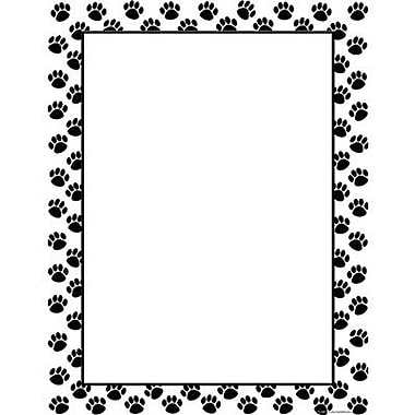 Teacher Created Resources® Paw Prints Blank Chart, Black