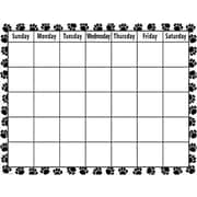 Teacher Created Resources® Calendar Chart, Black and White Paw Print