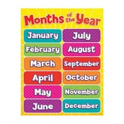 Teacher's Friend® Months of the Year Chart, Grades Pre Kindergarten - 5th