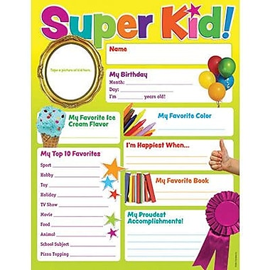 Teacher's Friend® Chart, Super Kid of the Week