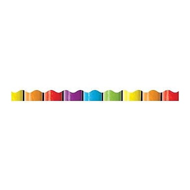 Teacher's Friend® Pre Kindergarten - 5th Grades Scalloped Trim, Rainbow Pencils