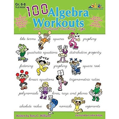 Milliken & Lorenz Educational Press® 100 Algebra Workouts Book, Grades 6th - 8th