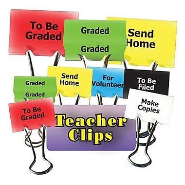 Top Notch Teacher Products® Things To Do Teacher Teacher Clip Set, 1-1/4in.