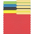 Top Notch Teacher TOP3376 Polka Dots Mini File Folder, Assorted