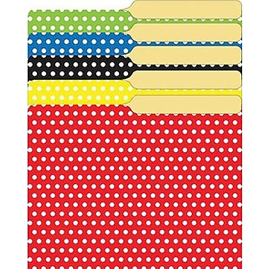 Top Notch Teacher Products® Polka Dots Mini File Folder, Assorted