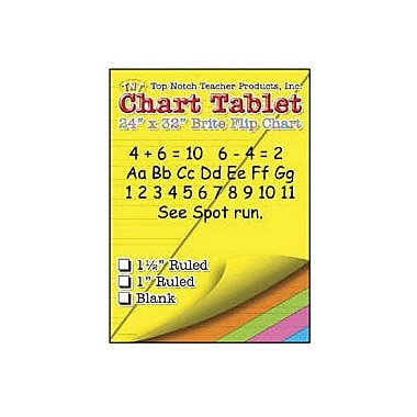 Top Notch Teacher Products® 32in. x 24in. Large Chart Tablet, Ruled, 25/Sheets