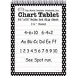 Top Notch Teacher Products® 32in. x 24in. Polka Dots Chart Tablet, Black