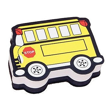 Ashley® Magnetic Whiteboard Eraser, Yellow Bus