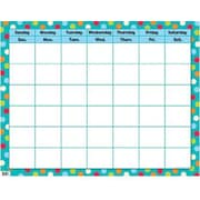 Creative Teaching Press Calendar Chart, Dots On Turquoise