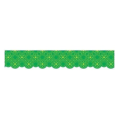 Creative Teaching Press™ pre-school-12th Grades Scalloped Bulletin Board Border, Lots of Green Dots