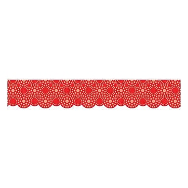Creative Teaching Press™ pre-school - 12th Grades Scalloped Bulletin Board Border, Lots of Dots Red