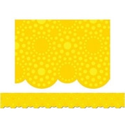 "Creative Teaching Press 1103 35' x 2.75"" Scalloped Lot of Dots Border, Yellow"