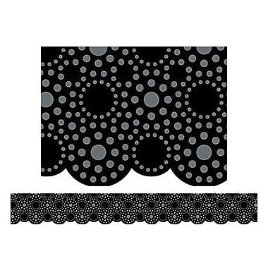 Creative Teaching Press™ pre-school-12th Grades Scalloped Bulletin Board Border, Lots of Dots Black