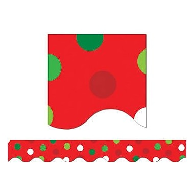 Creative Teaching Press™ pre-school - 12th Grades Scalloped Bulletin Board Border, Holiday Dots