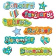 Creative Teaching Press™ Months of The Year, Dots On Turquoise