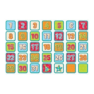 Creative Teaching Press Calendar Days, Dots On Turquoise