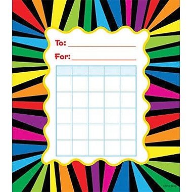Creative Teaching Press™ Incentive Chart, Rainbow Stripes