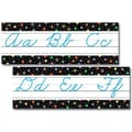 Creative Teaching Press™ Bulletin Board Set, Dots On Black Alphabet, Cursive Handwriting