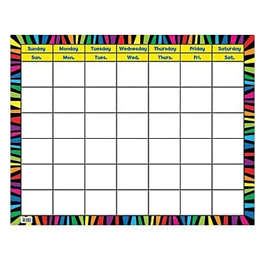 Creative Teaching Press™ Calendar Chart, Rainbow Stripes