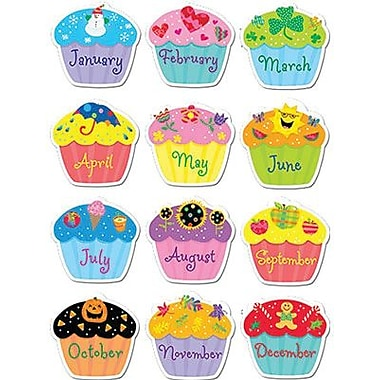 Creative Teaching Press™ Poppin' Patterns® Stickers, Birthday Cupcakes
