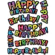 Creative Teaching Press™ Poppin' Patterns® Stickers, Happy Birthday