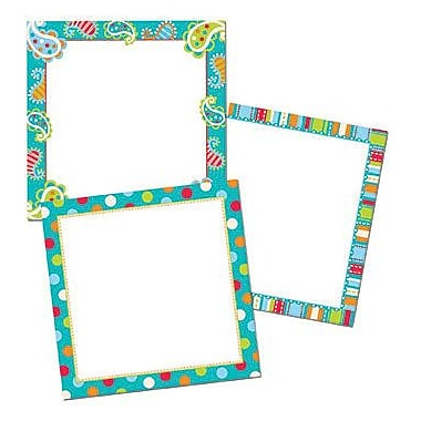 Creative Teaching Press™ Toddler-12th Grades Designer Chart Cut-Out Card Accents, Dots On Turquoise
