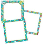 "Creative Teaching Press CTP6244 10"" x 10"" Dots on Turquoise Designer Classroom Set, Multicolor"