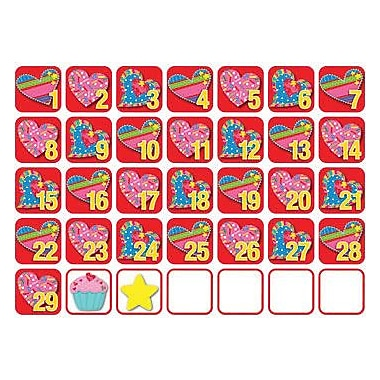 Creative Teaching Press™ Seasonal Calendar Days, Poppin' Patterns®, February