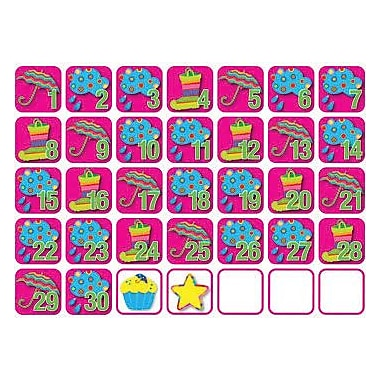 Creative Teaching Press Seasonal Calendar Days, Poppin Patterns®, April