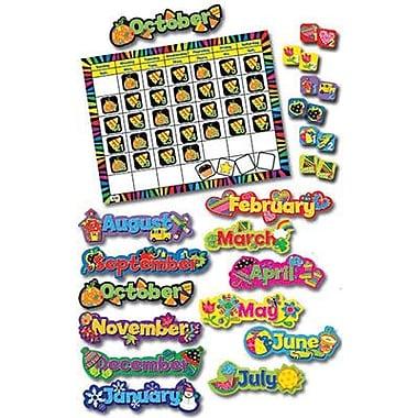 Creative Teaching Press 6915 DieCut Poppin Seasonal Year-Round Calendar Set, Multicolor
