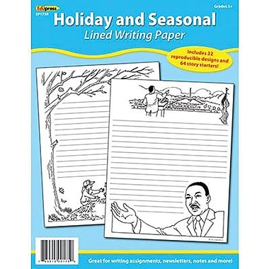 Edupress® 11in. x 8 1/2in. Lined Writing Paper, Holiday and Seasonal