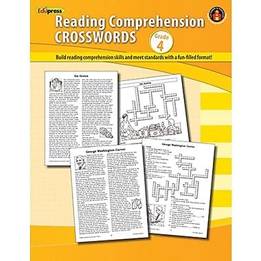 Edupress® Reading Comprehension, Crosswords, Grades 4th