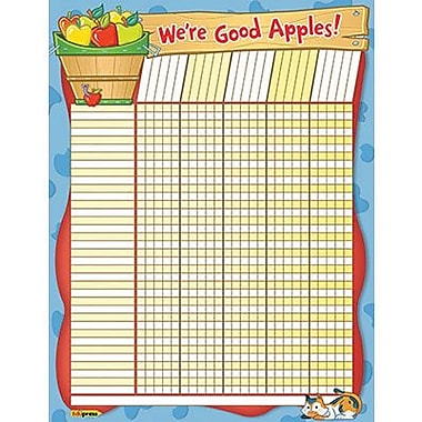 Edupress® Incentive Wall Chart, We're Good Apples