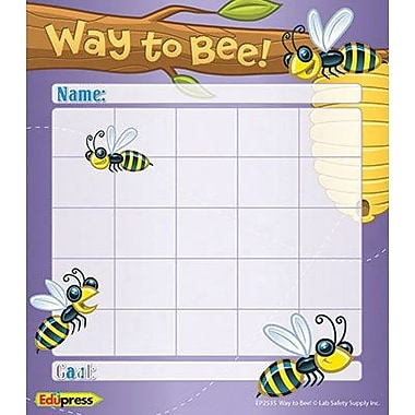 Edupress® Personal Incentive Chart, Way To Bee