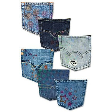 Edupress E3W-EP3151 Denim Pocket Bulletin Board Accents Grade Toddler - 12, Assorted
