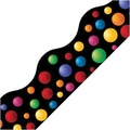 Edupress® pre-school - 12th Grades Scalloped Simply Border, Colorful Bubbles