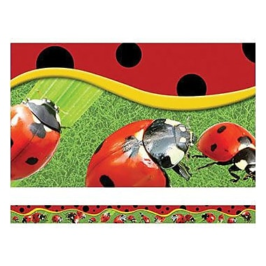 Edupress® pre-school - 12th Grades Straight Layered-Look Border, Ladybugs