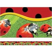 "Edupress Layered-Look Border EP3260 39"" x 3"" Straight Ladybugs Border, Multicolor"