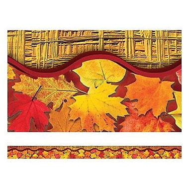 Edupress® pre-school - 12th Grades Straight Layered-Look Border, Leaves