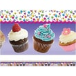 Edupress® Pre School - 12th Grades Straight Layered-Look Border, Cupcakes