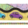 Edupress® pre-school - 8th Grades Straight Layered-Look Border, Travel