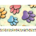 Edupress® Pre School - 12th Grades Straight Spotlight Border, Paw Prints