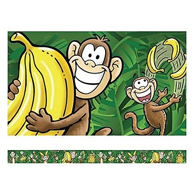 Edupress® Pre School - 8th Grades Straight Spotlight Bulletin Board Border, Go Bananas