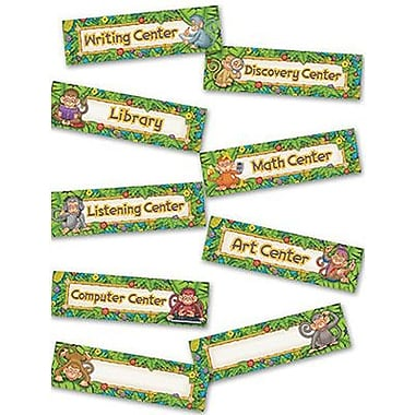 Edupress® Mini Bulletin Board Set, Monkeys Center Signs