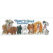 Eureka® Wags & Whiskers Paws to Read Bookmark, Grades preschool - 6th