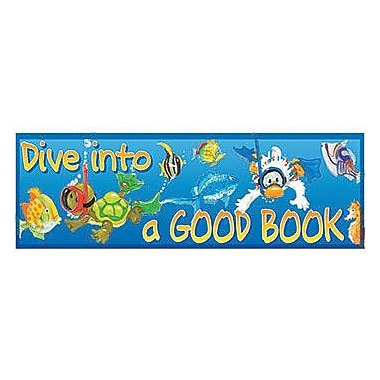 Eureka® Suzy's Zoo Dive Into a Good Book Bookmark, Grades preschool - 3rd