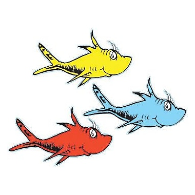 Eureka® Dr. Seuss™ Toddler - 6th Grades Paper Cut-Outs, One Fish Two Fish