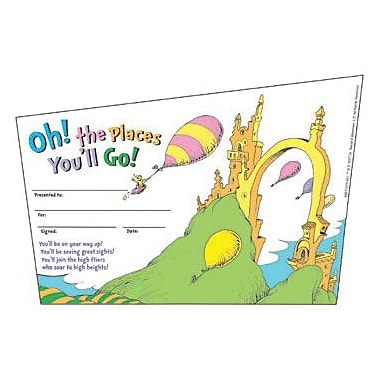 Eureka® Dr. Seuss™ Recognition Award, Oh! The Places You'll Go