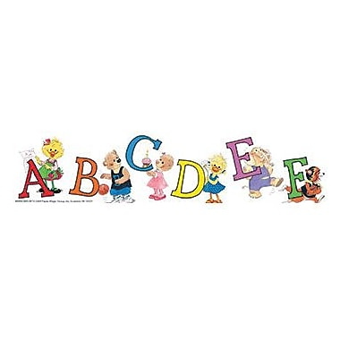 Eureka® Suzy Zoo® Pre School - 8th Grades Straight Deco Trim, Character Letters